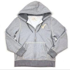 American Eagle Mens Logo Applique Zip Up Hoodie